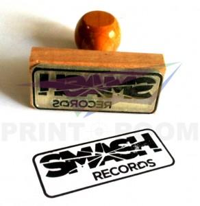 Ξύλινη σφραγίδα με λογότυπο/σχέδιο