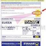 Εκτύπωση boarding pass - Ryanair