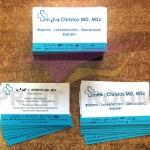 Επαγγελματικές κάρτες δύο όψεων χωρίς πλαστικοποίηση