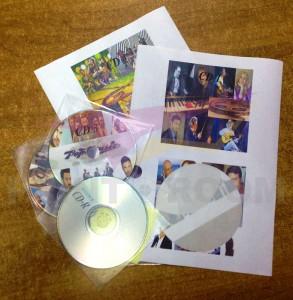 Αυτοκόλλητα δίσκων CD