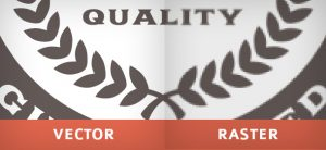 Δεξιά το γραμμικό (vector), αριστερά το φωτογραφικό (raster) και η ευδιάκριτη διαφορά τους