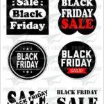 Αυτοκόλλητα Βιτρίνας «Black Friday»