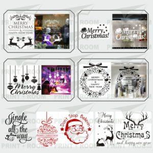 Χριστουγεννιάτικα Αυτοκόλλητα Βιτρίνας