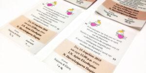 Προσκλησεις βαφτισης σε διαφανεια - Προσκλησεις Βαπτισης - Christening/Baptism invitations in calque tracing paper