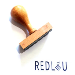 Ξυλινη σφραγιδα με λογοτυπο - Rubber stamp with logo