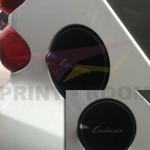 Αυτοκόλλητο Βινύλιο σε ασημί χρώμα - Διάμετρος 14,5 εκ.