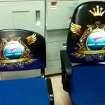 Ψηφιακή εκτύπωση σε μουσαμά και εφαρμογή σε καρέκλες