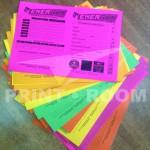 Ασπρόμαυρη εκτύπωση σε έγχρωμο χαρτόνι 160 γρ. - Πρόγραμμα Προπόνησης Γυμναστηρίου Energym