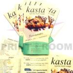 Διαφημιστικά φυλλάδια - Creperie Kasta
