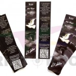 Σελιδοδείκτες δύο όψεων με ματ πλαστικοποίηση (Bookmarks) - Διάσταση 20 x 4 cm
