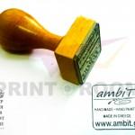 Ξύλινη σφραγίδα με λογότυπο/σχέδιο - Διάσταση 3x3 cm