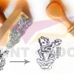 Ξύλινες σφραγίδες με λογότυπο