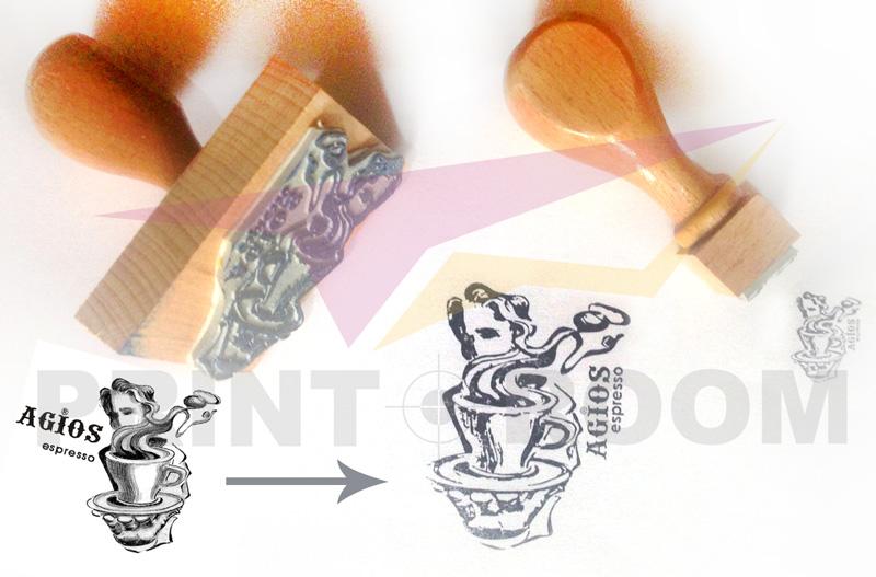 Ξύλινες σφραγίδες με λογότυπο/σχέδιο