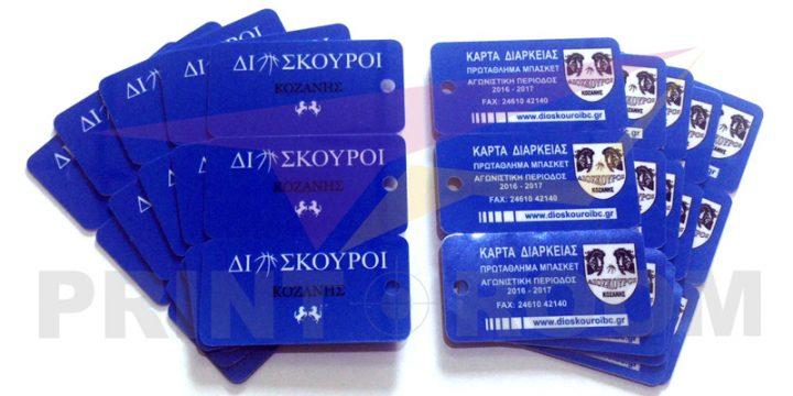 Mini PVC (πλαστικές) κάρτες