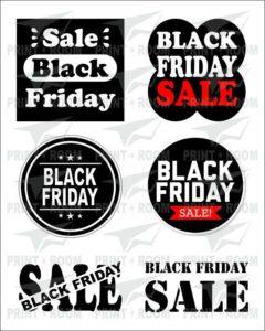 Black Friday - Αυτοκόλλητα Βιτρίνας