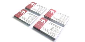Επαγγελματικες Καρτες μιας οψης ματ πλαστικοποιηση - www.printroom.gr
