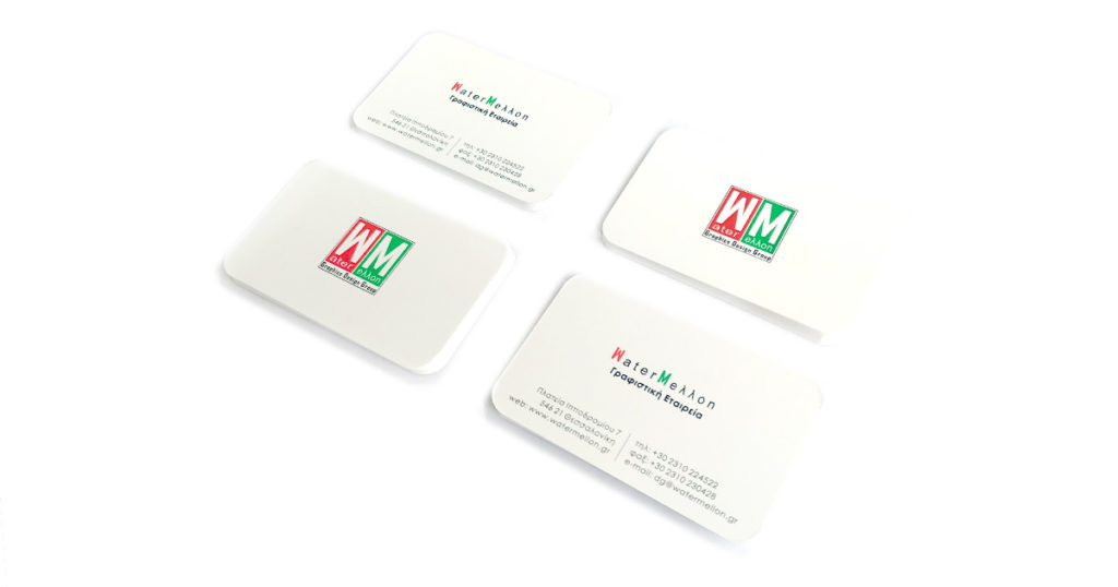 Επαγγελματικές κάρτες με στρογγυλεμένες γωνίες και ματ πλαστικοποίηση - www.printroom.gr