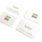 Επαγγελματικες καρτες με στρογγυλεμενες γωνιες και ματ πλαστικοποιηση