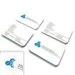 Επαγγελματικες καρτες με τοπικο UV και στρογγυλεμενες γωνιες