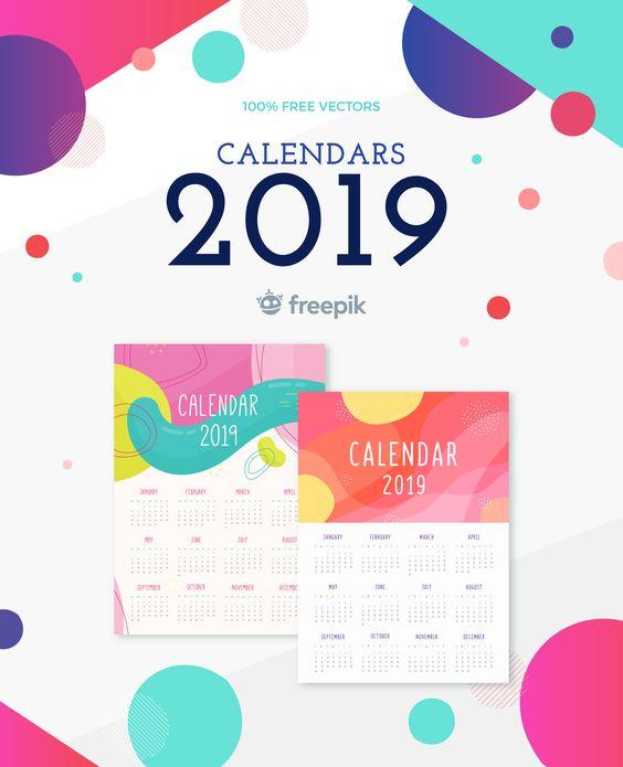 Εκτυπώσιμα printables ημερολόγια 2019