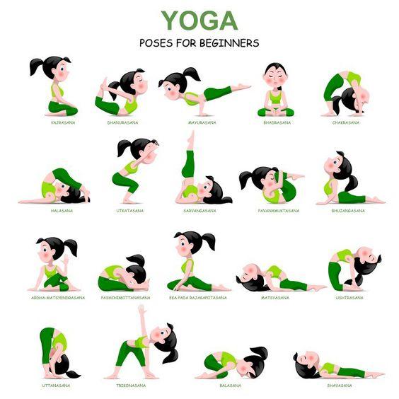 Εκτυπώσιμες στάσεις Yoga - Printables