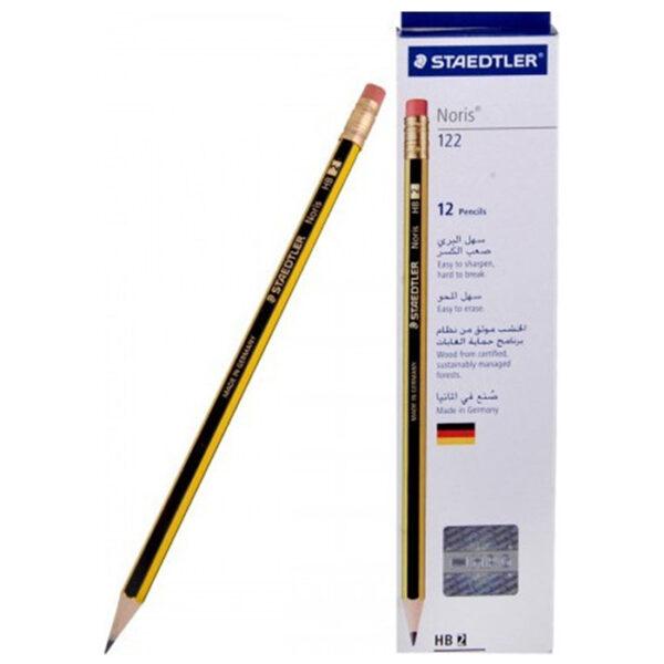 Μολύβι με Σβήστρα Staedtler HB Noris 122